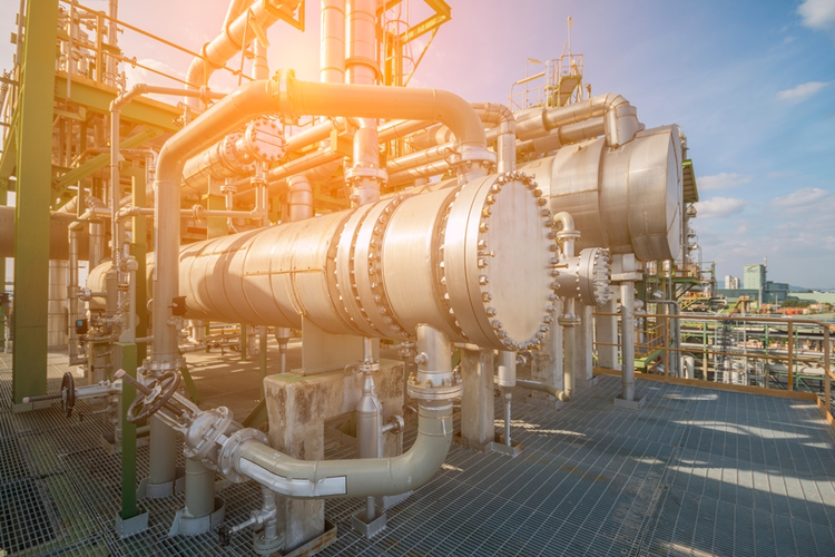 Heat exchanger at petroleum and refinery plant