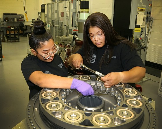 Aerospace apprentices working onsite at Lockheed Martin