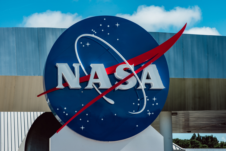 NASA logo sign