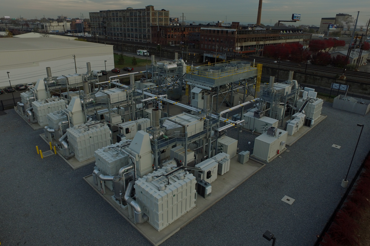 Aerial view of FuelCell's equipment.