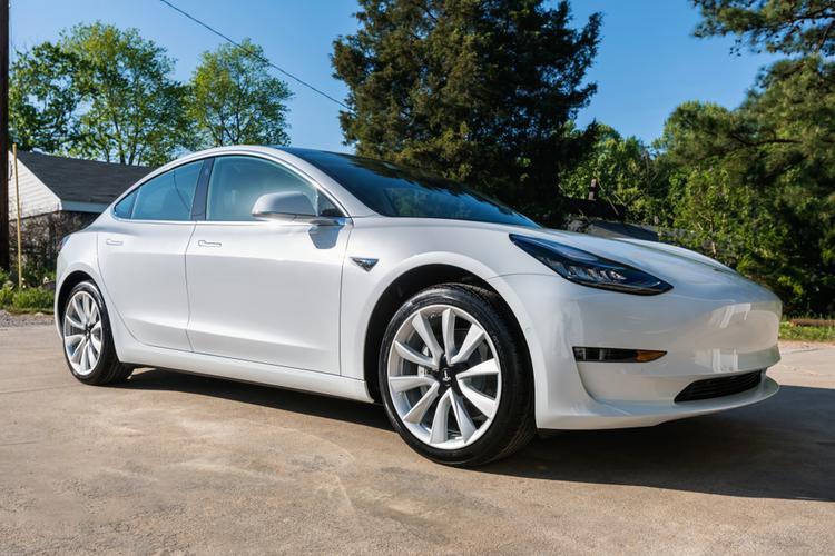 Tesla Model 3 Sedan in white