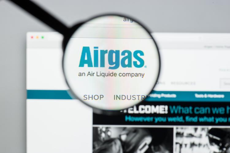 Airgas website homepage.