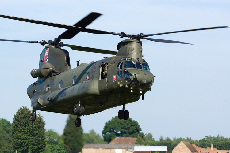 U.S. Army Chinook helicopter