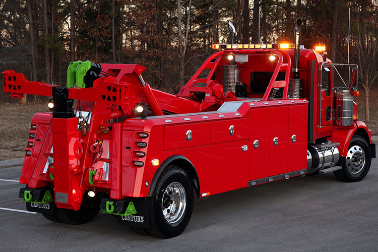 Heavy duty towing truck manufactured by Miller Industries