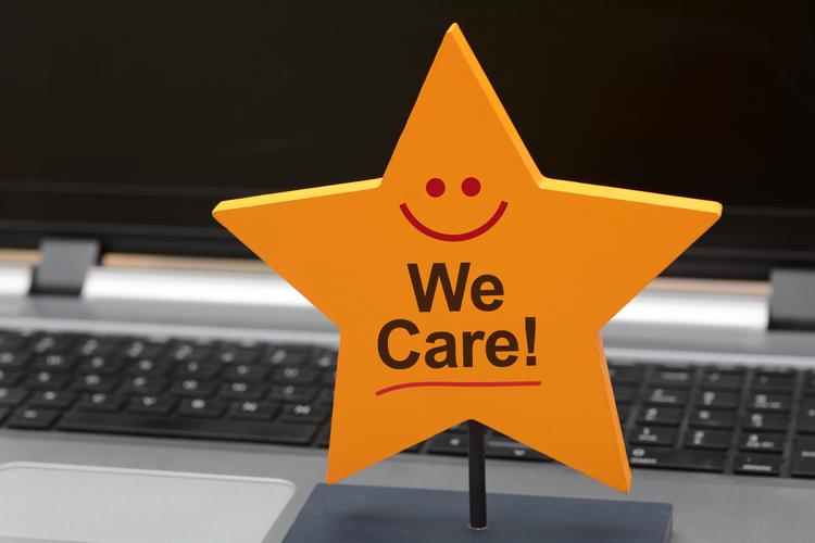 We care customer service star sign
