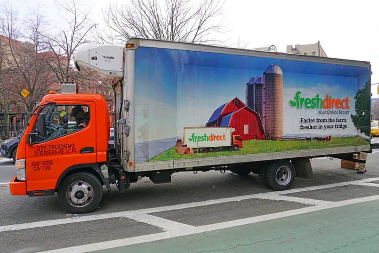 FreshDirect delivery truck.