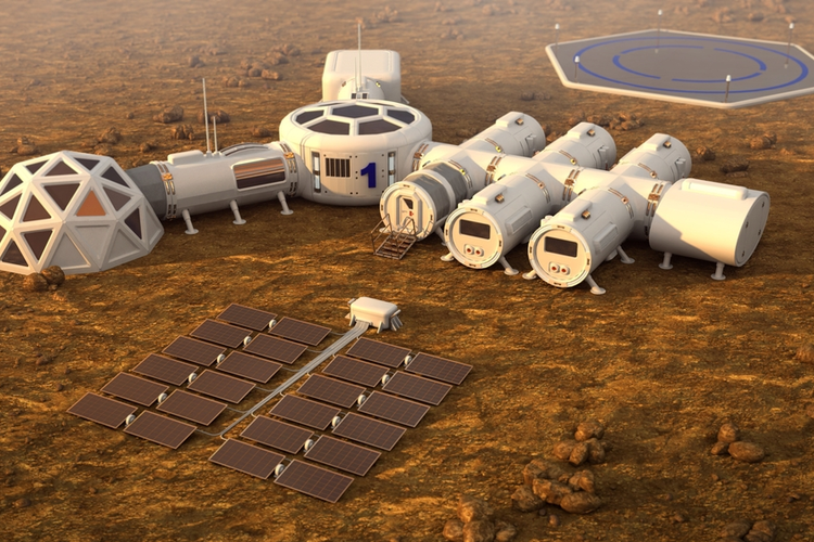 Colony on Mars.