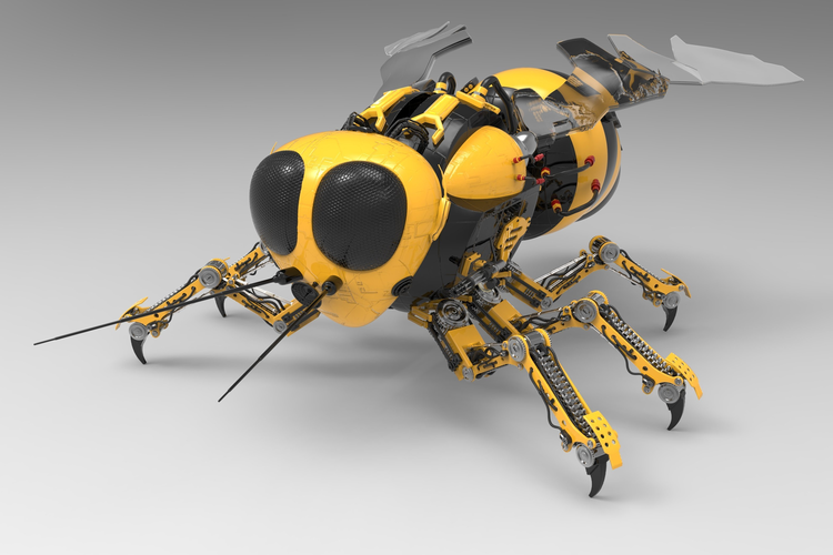 Giving Robot Insects a Brain