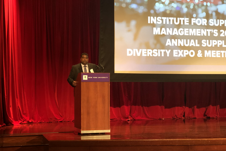 Persaud speaks at NYU for The ISM Annual Conference.