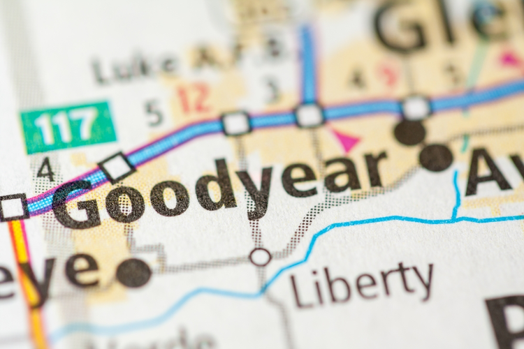 Map of Goodyear, AZ.