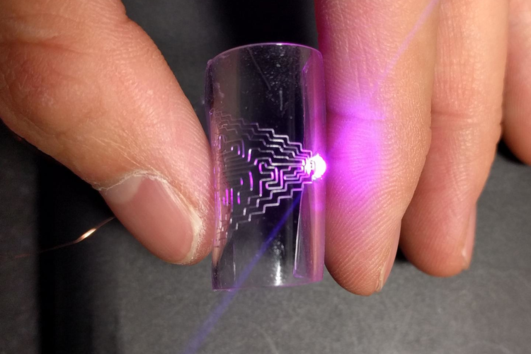 To demonstrate the technology, the researchers built a prototype touch sensor. Credit: Jingyan Dong, North Carolina State University