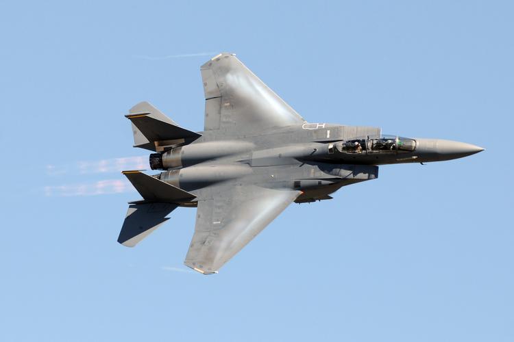 U.S. military airplane in flight