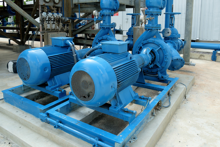 Centrifugal pump in industrial facility