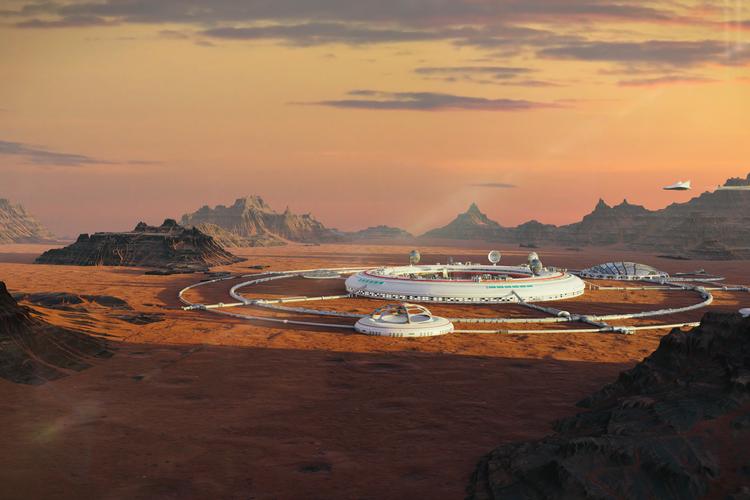Designers Unveil Plans for Cliffside City on Mars