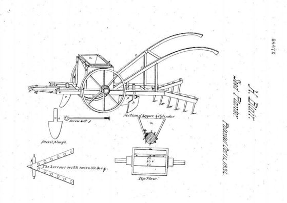 Seed Planter Invention Henry Blair