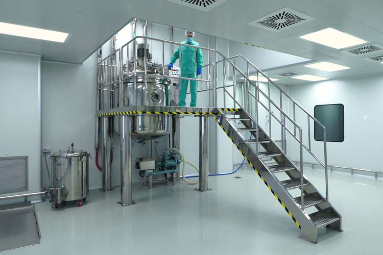 Cleanroom at pharmaceutical plant