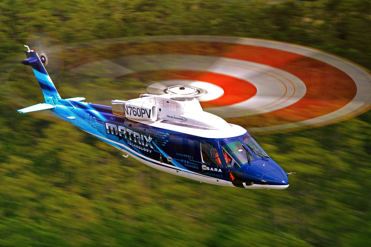 Sikorsky Autonomy Research Aircraft using MATRIX technology in flight