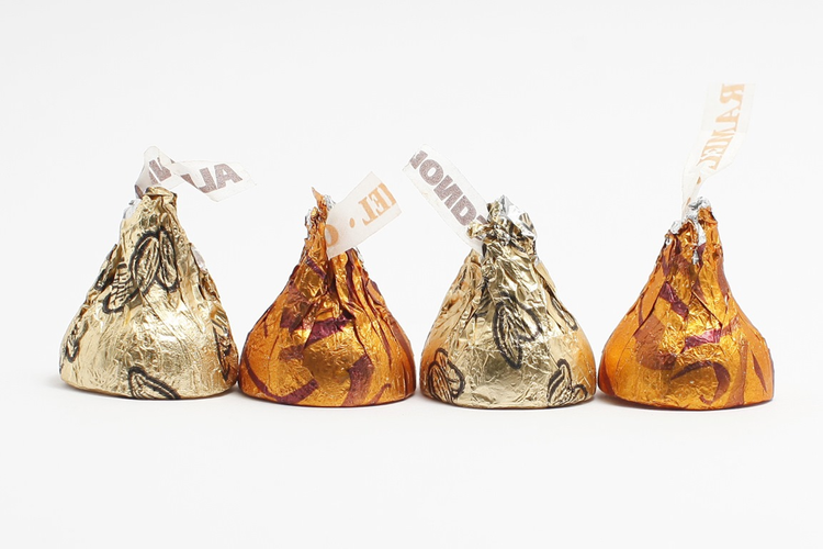 Four Hershey's Kisses in a row