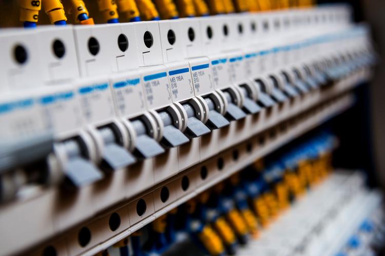 Circuit breakers on switchboard