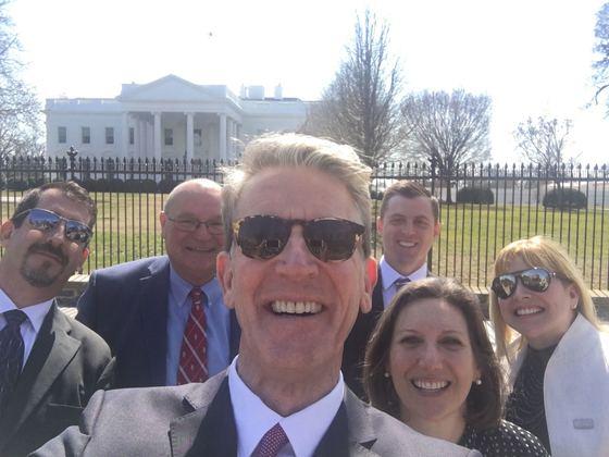 Tony Uphoff White House Selfie