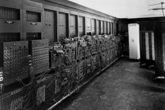 ENIAC computer, the first general purpose electronic digital computer