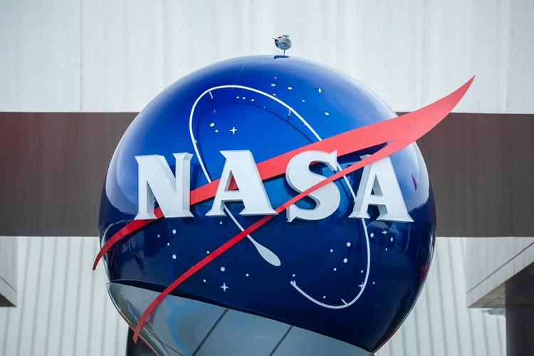 NASA sign and logo