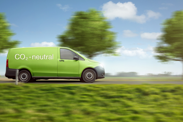 Carbon neutral delivery van