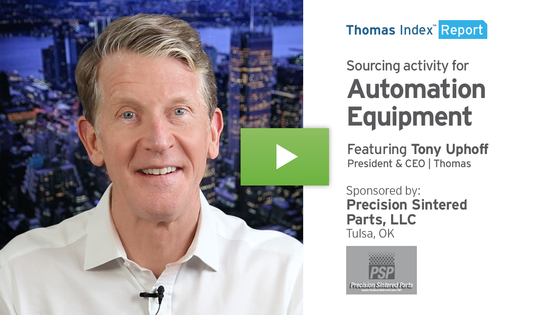 Thomas Index Report thumbnail - Sourcing activity for automation equipment