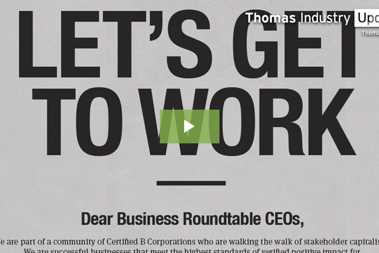 Full-page Newspaper Ad Challenges Top Business Executives