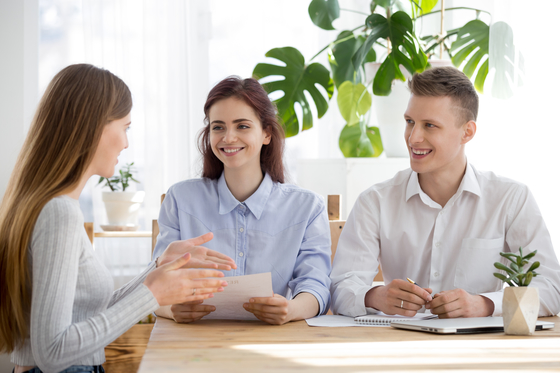 Three people involved in professional interview