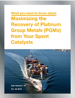 Maximizing the Recovery of Platinum Group Metals (PGMs) from your Spent Catalysts