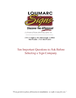 Ten Important Questions to Ask Before Selecting a Sign Company