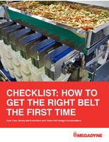 Checklist: How to Get the Right Belt the First Time