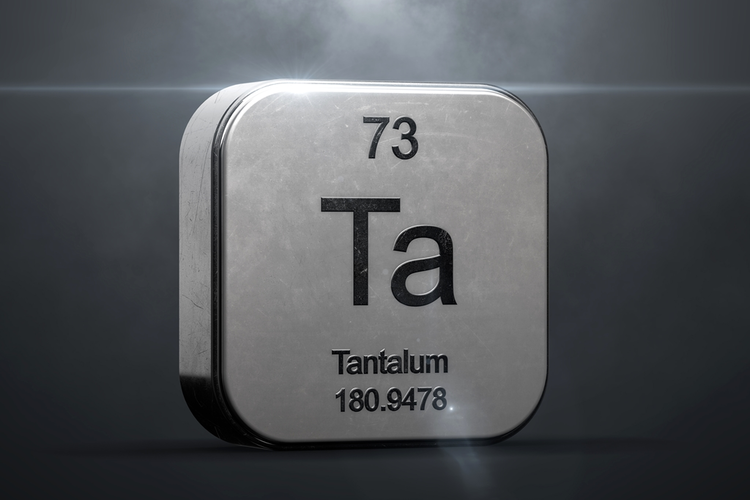 Tantalum element from periodic table