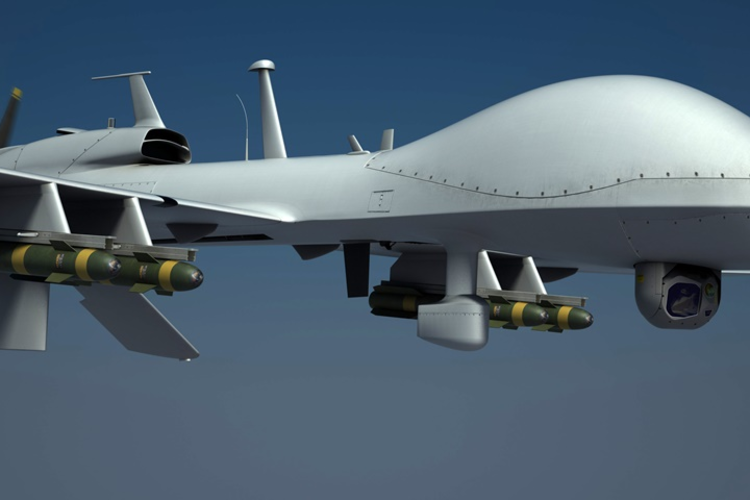 3D rendering of Gray Eagle military drone