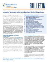 Increasing Workplace Safety with Beryllium Medical Surveillance