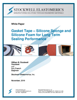Gasket Tape – Silicone Sponge and Silicone Foam for Long Term Sealing Performance