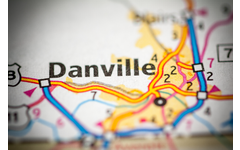 Map Showing Danville, Virginia