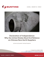 Declaration of Independence: Why the United States Must End Reliance on Chinese Rare Earth Suppliers