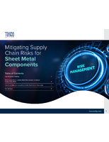 Mitigating Supply Chain Risks for Sheet Metal Components