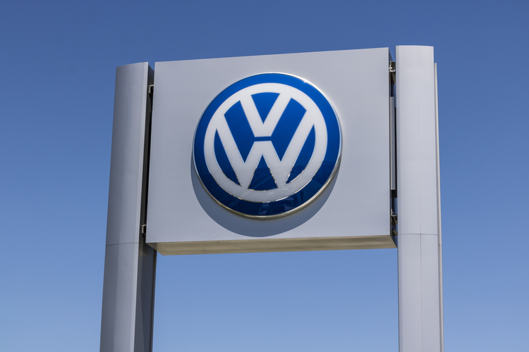 Volkswagen logo on a sign