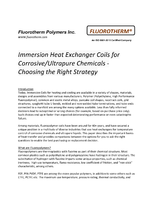 Corrosive/Ultrapure Fluid Heat Exchanger Coils - Choosing the Right Strategy