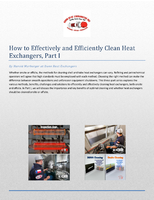How to Effectively and Efficiently Clean Heat Exchangers, Part I