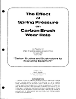 The Effect of Spring Pressure on Carbon Brush Wear Rate