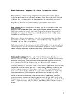 Baker Instrument Company AWA Surge Test Pass/Fail Criteria: