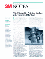 AT&T Stresses Fire Protection Standards at the University of Maryland
