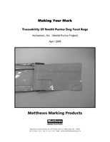 Making Your Mark: Traceability of Nestle Purina Dog Food Bags