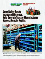 Unex Roller Racks Increase Efficiency, Help Georgia Tractor Manufacturer Harvest Peachy Profits