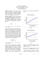 Reflection Coefficient Applications in Test Measurements