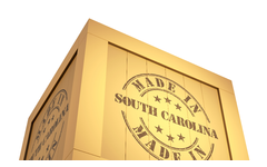 Made in South Carolina Label on a crate